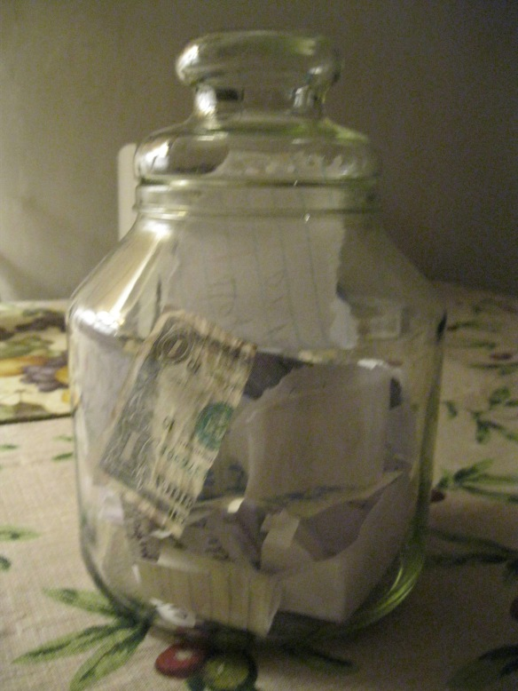 My Happiness Jar, a much better alternative. Photo by Vicki Willoughby