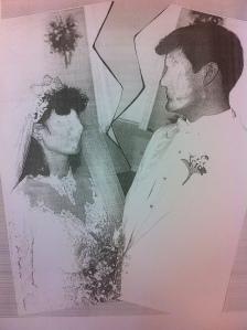 edited wedding photo
