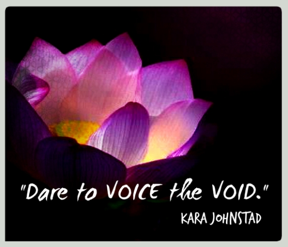 DARE TO VOICE THE VOID