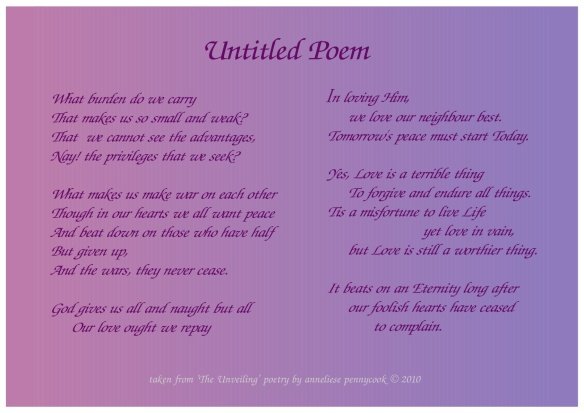 Untitled poem