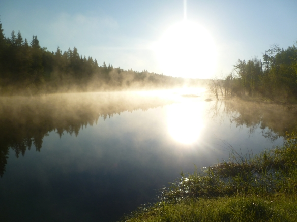 Morning Fog off Rennie River - Photo by Leah Schroeder